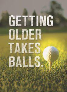 verjaardag man golf