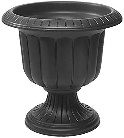 Amazon Com Classic Urn Planter Black 14 Inch Outdoor Urns Garden Outdoor Urn Planters Black Planters Front Porch Plants