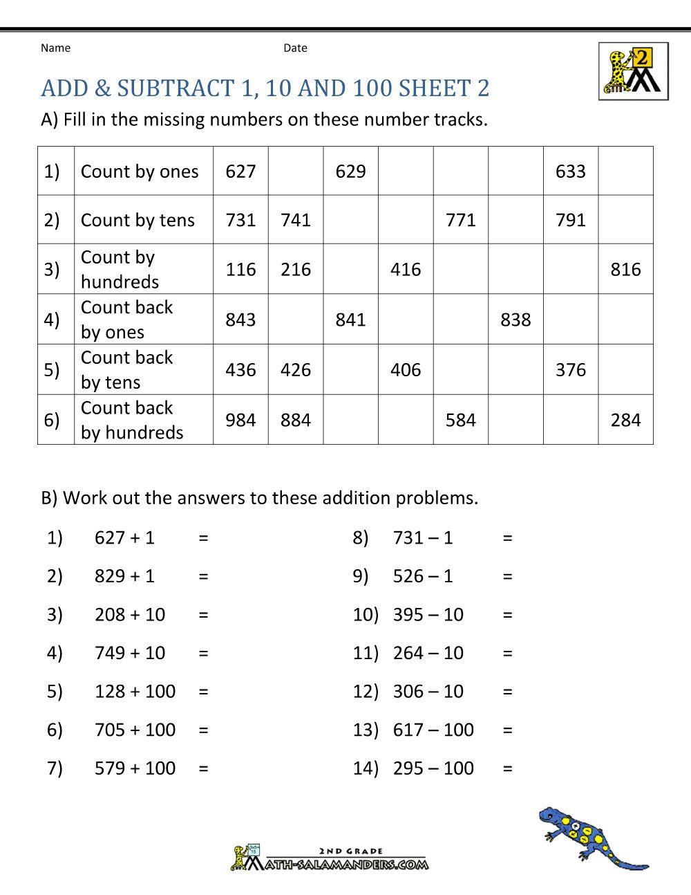 5 Worksheet Math Practice Sheets Subtracting 2nd Grade Math Eets Mental  Subtraction … in 2020   Subtraction worksheets [ 1294 x 1000 Pixel ]