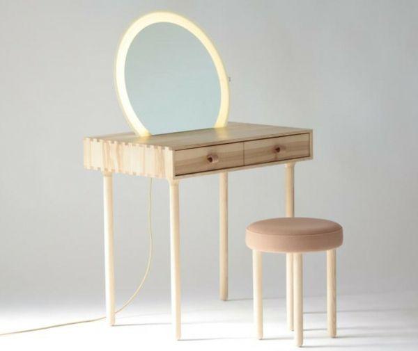 Schminktisch Design Holz Rahmen Spiegel