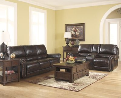 Dexpen Saddle Leather Reclining Sofa And Loveseat Living Room