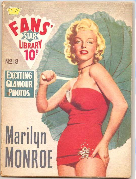 'Marilyn Monroe - Fans' Star Library'. Original vintage digest-sized magazine devoted entirely to Marilyn, No. 18 in the Fans' Star Library series. Published in the United Kingdom, 1959.