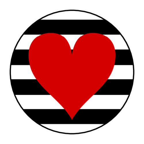 Valentine S Day Red Heart And Stripes Sticker Valentines Art Heart Stickers Download Valentines
