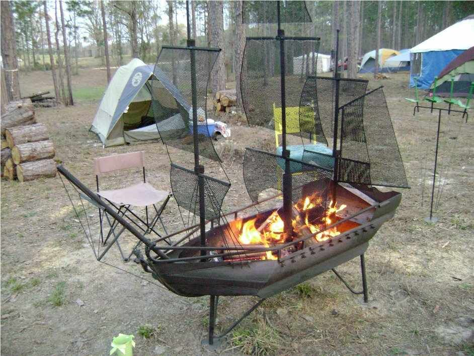 Pirate Ship BBQ Pit #Man #Cave #Garage #Grills | The Man Cave ...