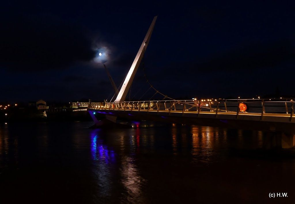 The Peace Bridge Derry Northern Ireland