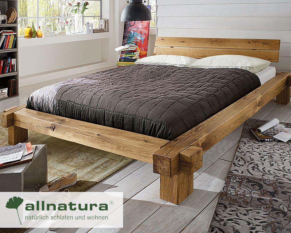 Balkenbett Viga Massiv Wildeiche In 2020 Bett Selber Bauen Bett Mobel Bett