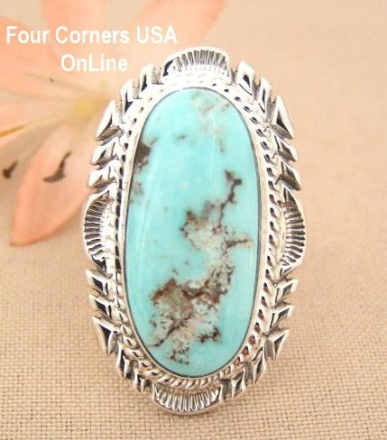 Four Corners USA Online - Dry Creek Turquoise Large Stone Ring Size 8 Thomas Francisco Navajo Silver Jewelry NAR-1442, $279.00 (http://stores.fourcornersusaonline.com/dry-creek-turquoise-large-stone-ring-size-8-thomas-francisco-navajo-silver-jewelry-nar-1442/)
