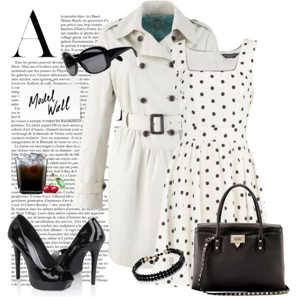 It's white, black, and polka dot... so i love!