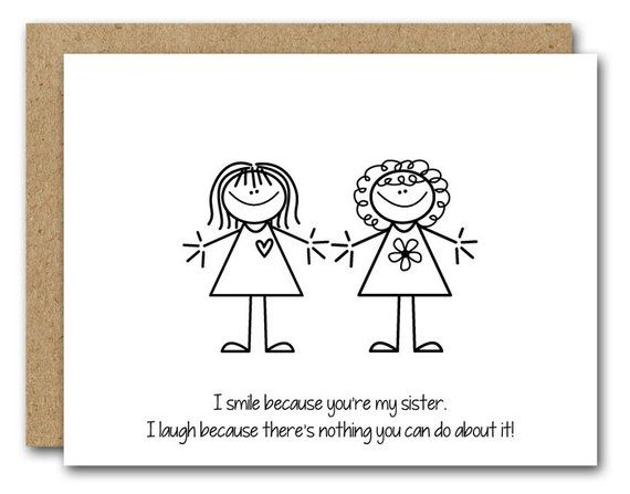 PRINTABLE Sister Birthday Card INSTANT DOWNLOAD Funny Friend Ca
