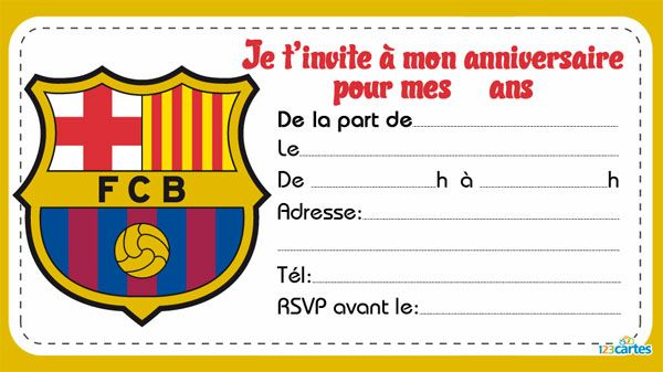 Fabuleux 5 Invitations de clubs de foot - 123 cartes | Lieux à visiter  ME76