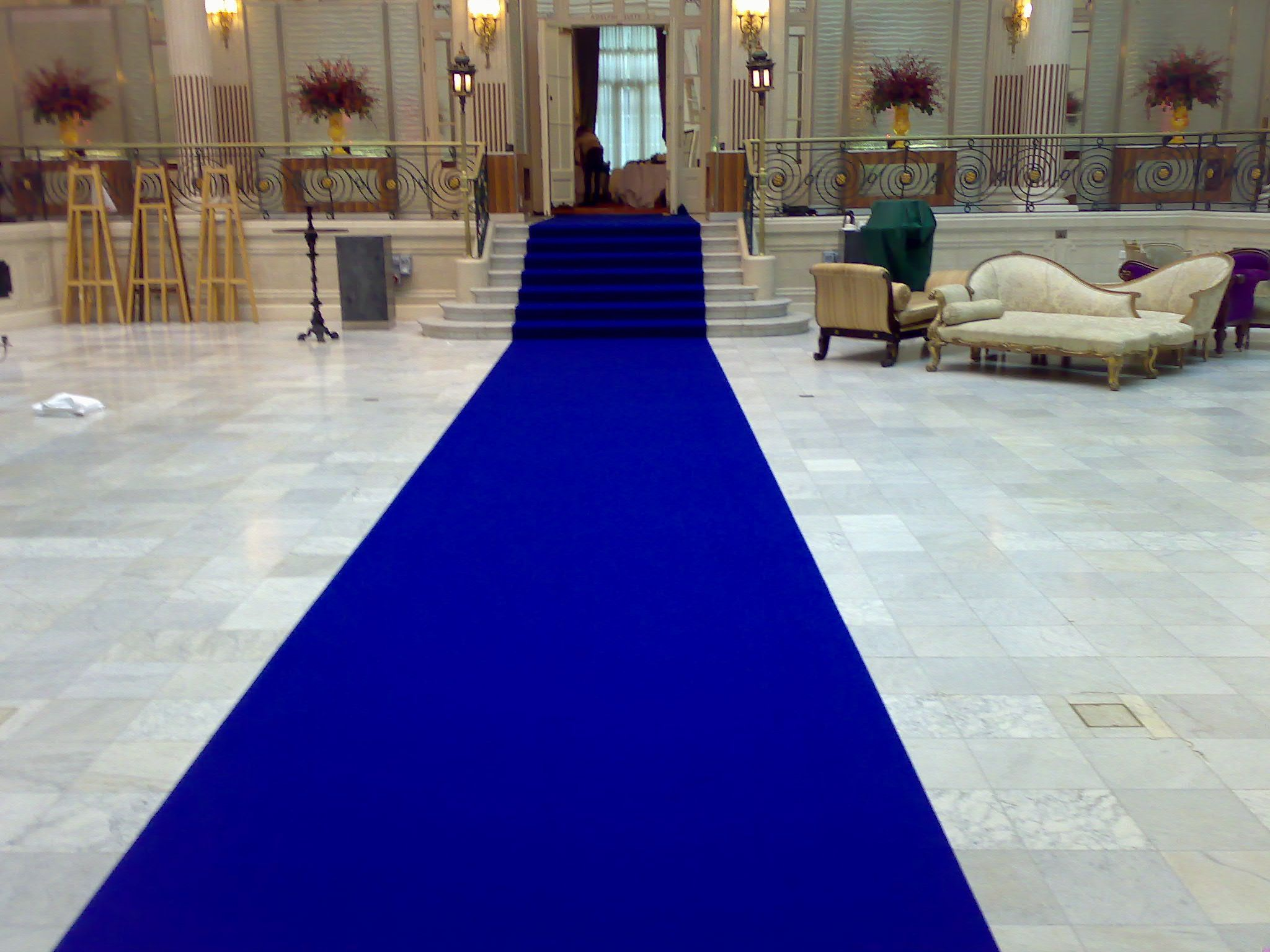 Pin By Patrick Hallowell On Blue Blue Carpet Aisle Runner