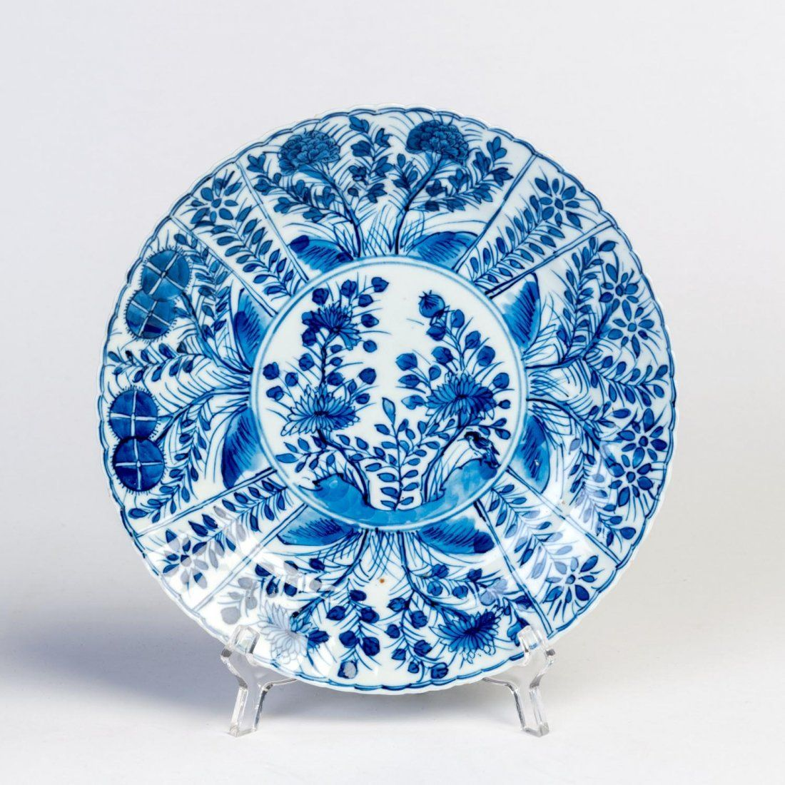 A Chinese Blue And White Porcelain Dish Kangxi Mark 18th Century White Porcelain Antique Porcelain Dolls Porcelain
