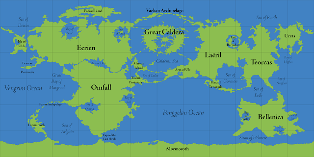 Calidars World Map With Map Labels The Great Caldera Is The - The world map with labels