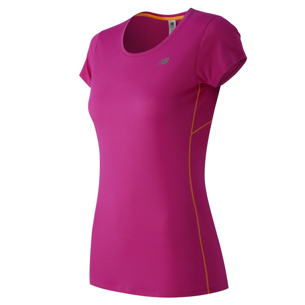 Pink n purple dress  Polera Running Manga Corta Accelerate Short Sleeve Mujer New Balance
