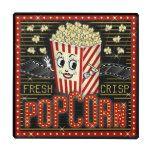 Movie Theatre Marquee Home Cinema Popcorn Custom Glass Coaster   Zazzle.com