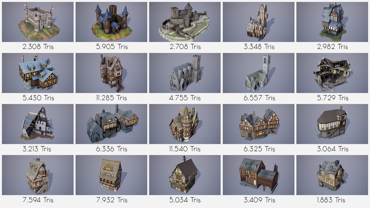 Amazing Medieval Buildings Pack 3d Historic Unity Asset Store