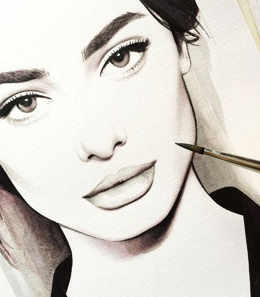 Fashion illustration face