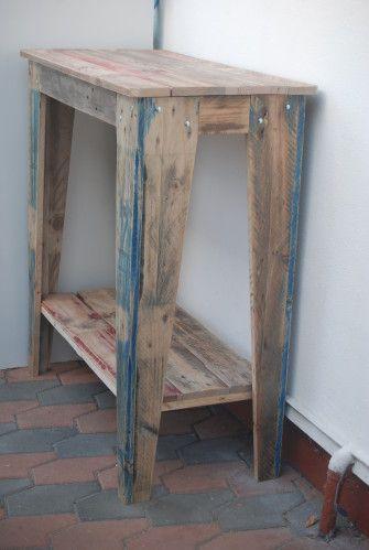 mange debout palette table mange debout console double plateau bois de palettes palette. Black Bedroom Furniture Sets. Home Design Ideas