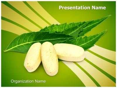 Check out our professionally designed Neem #Leaves Pills #PPT - editable leaf template
