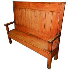 Pine Pub Bench Furniture Vintage Bench Vintage Furniture