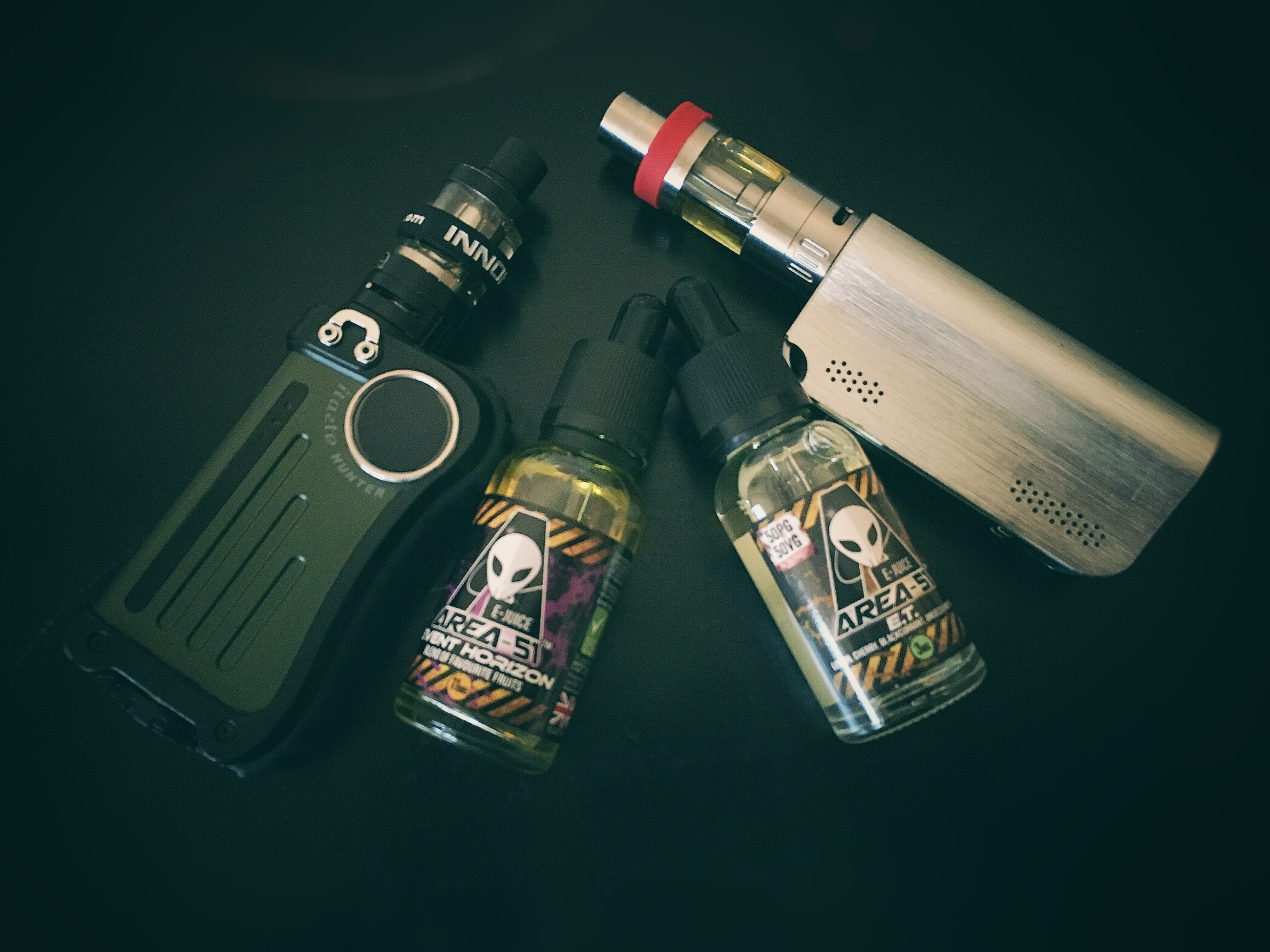 Today's mods ✌️trying out some new juice! Area 51   Itazte hunter innokin & coolfire IV, Isub G tank!