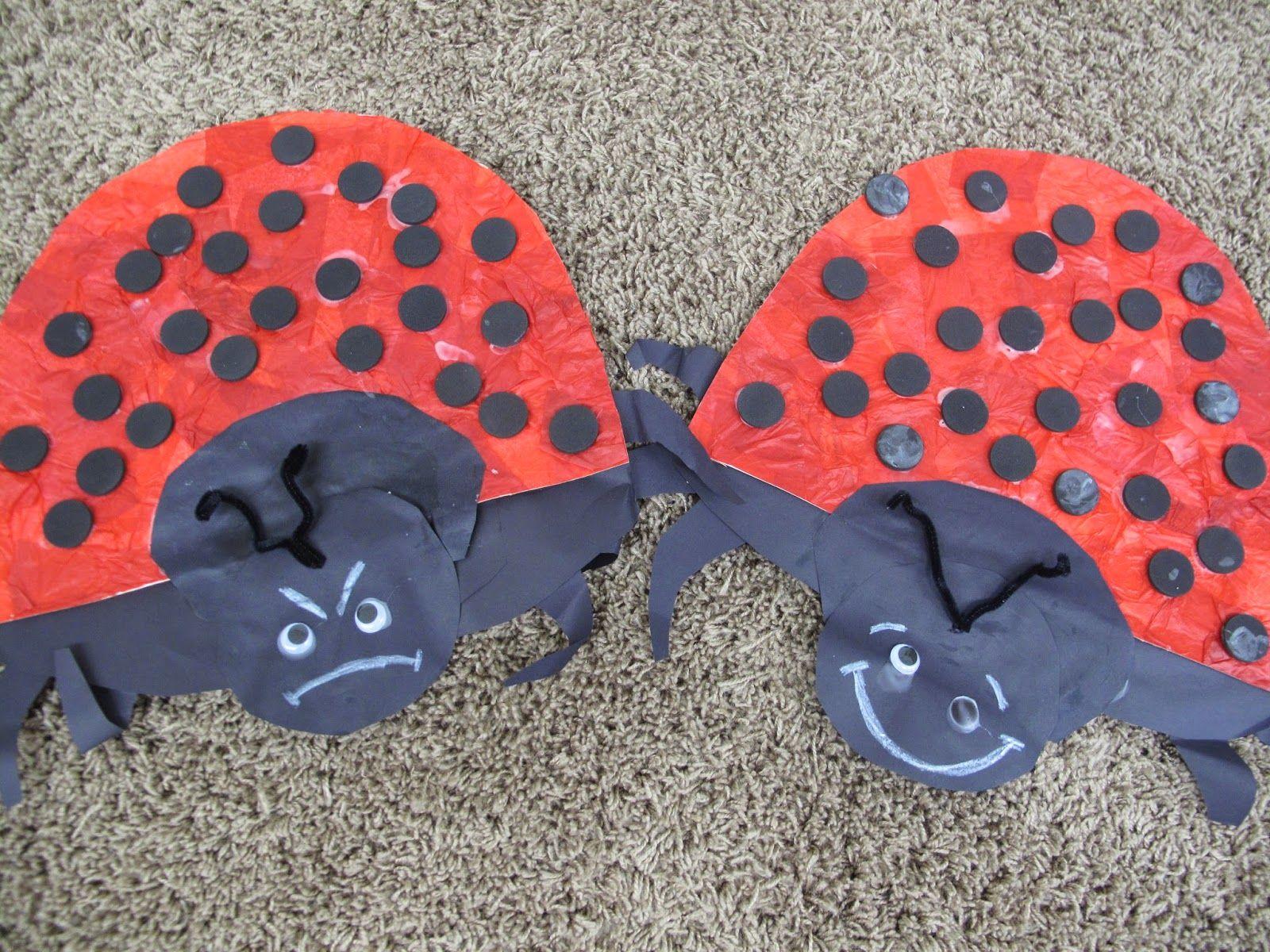 Mc Preschool The Grouchy Ladybug Craft Activity