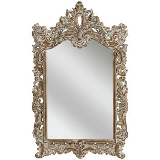 Buy Premier Housewares Dusty White Baroque Wall Mirror At