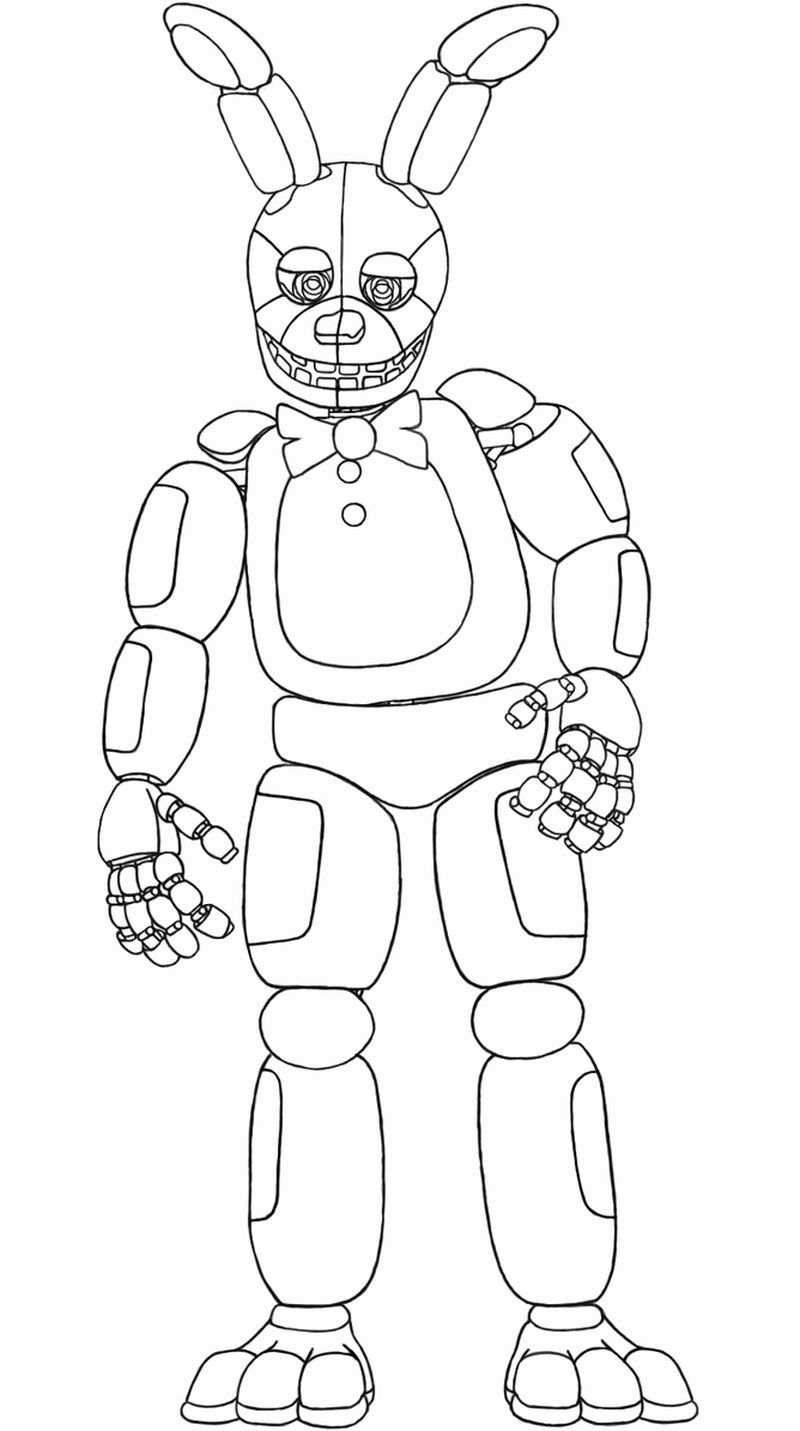 Five Nights At Freddys Coloring Pages Mangle Choose The Right