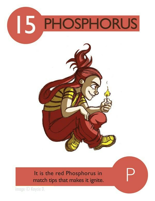 15 Phosphorus Cartoon Elements Pinterest Periodic Table And