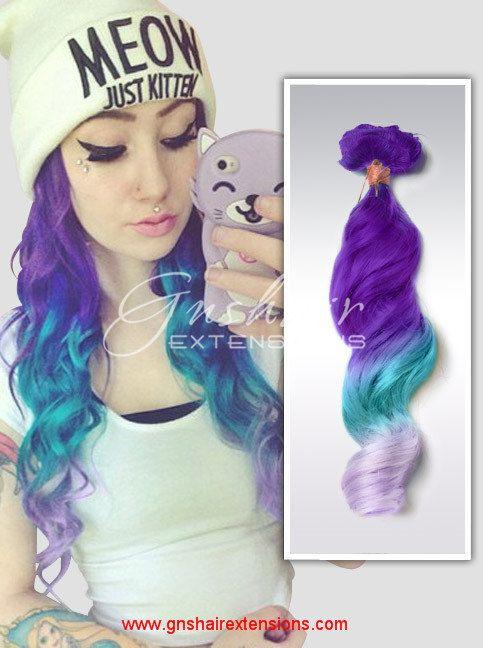 Lavender Hairmint Purple Violet Dip Dyed Pastel Human Hair