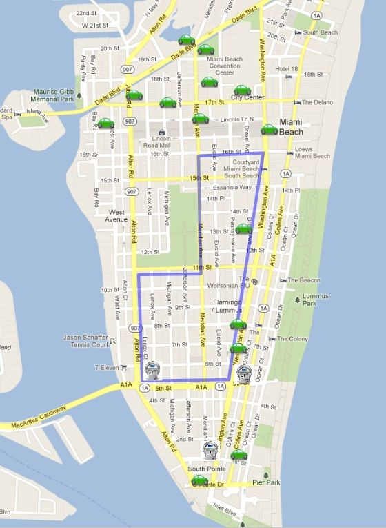 Miami Beach Parking Lot Map Holidays Florida Pinterest Parking