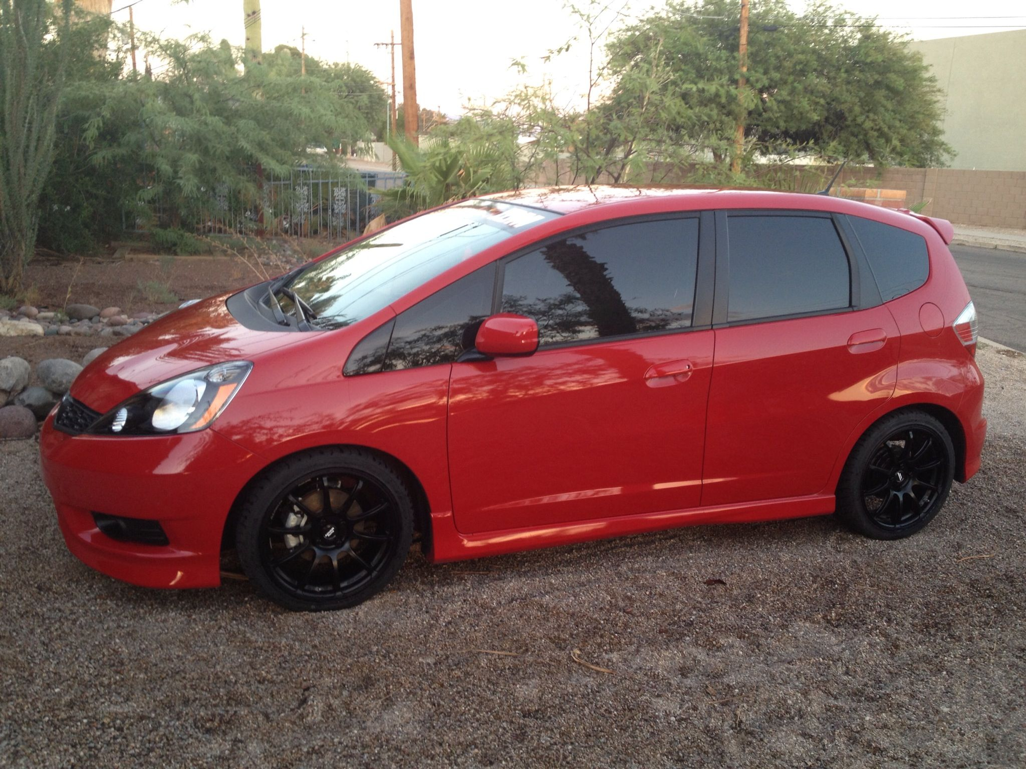 2013 honda fit w bilstein coilovers and 17 advan rsii wheels http