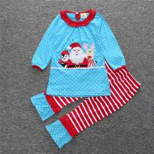 715027b82c1b Boutique Giggle Moon Children Christmas Sets Santa Claus Top Stripes ...