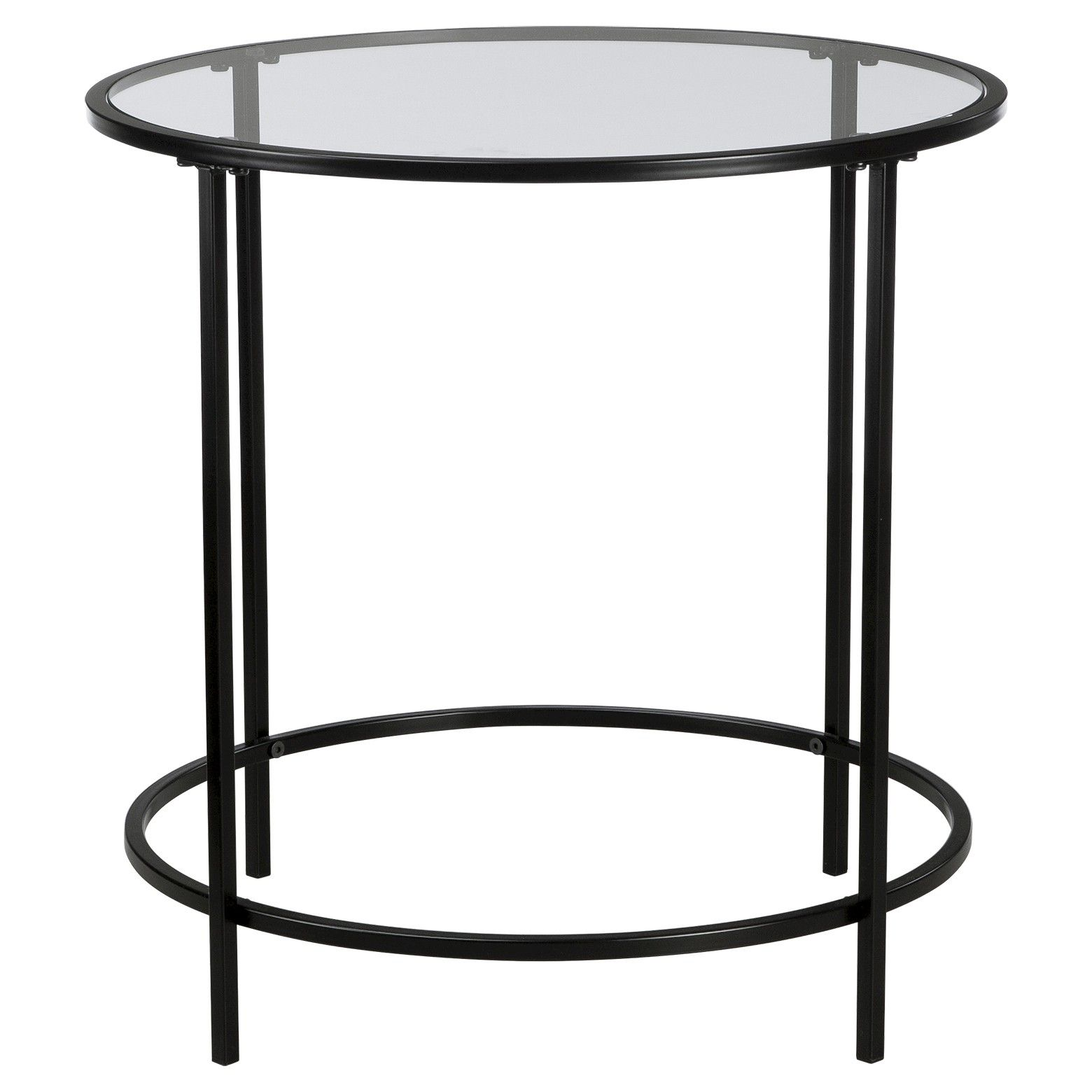 Soft Modern Round Side Table Black Clear Glass Sauder Black Side Table Round Side Table Black Black Glass Side Table [ 1560 x 1560 Pixel ]