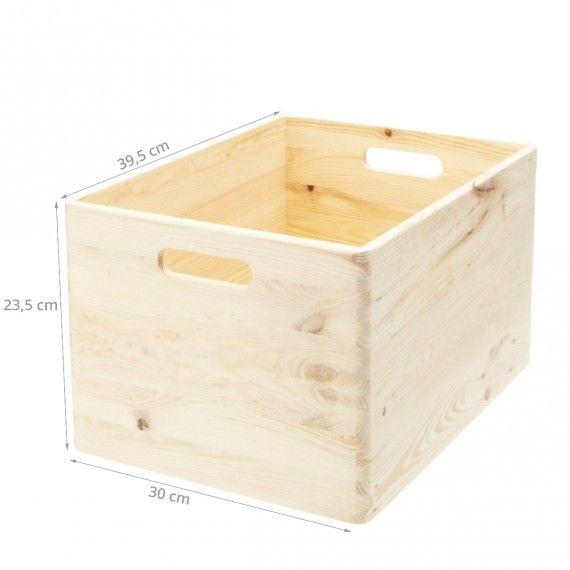Caisse De Rangement En Bois Taille L Boite De Rangement Bois Cagette Bois Boite De Rangement