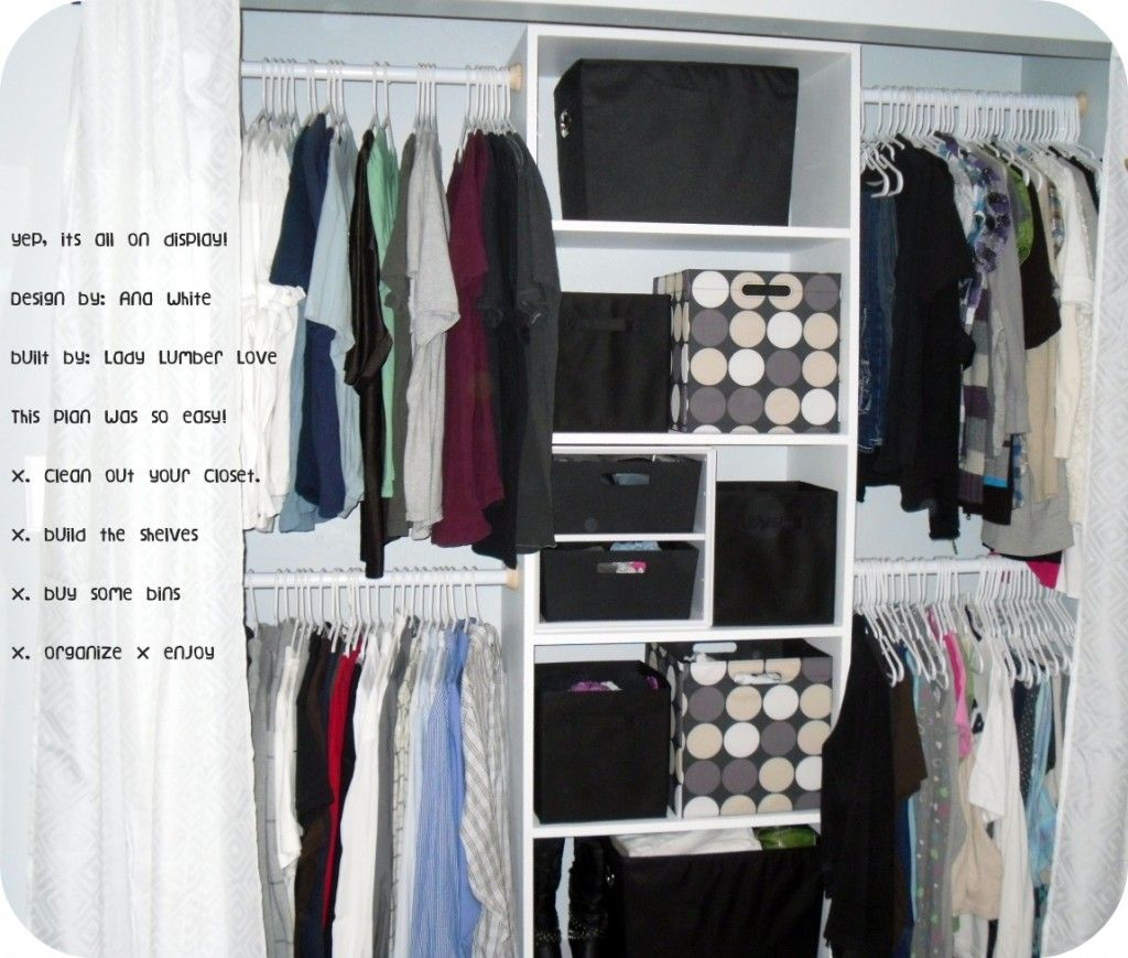 Easiest closet ever do it yourself home projects from ana white easiest closet ever do it yourself home projects from ana white solutioingenieria Images