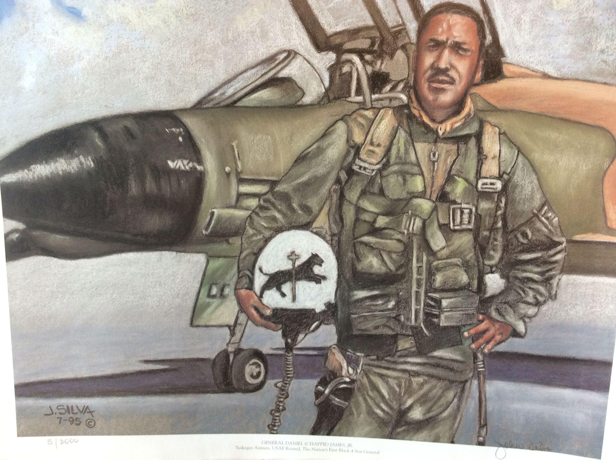 "USAF General Daniel ""Chappie"" James Jr. 1st African"
