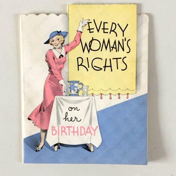 Vintage 1930s Card Unused Card Vintage Womens Birthday Card Womans