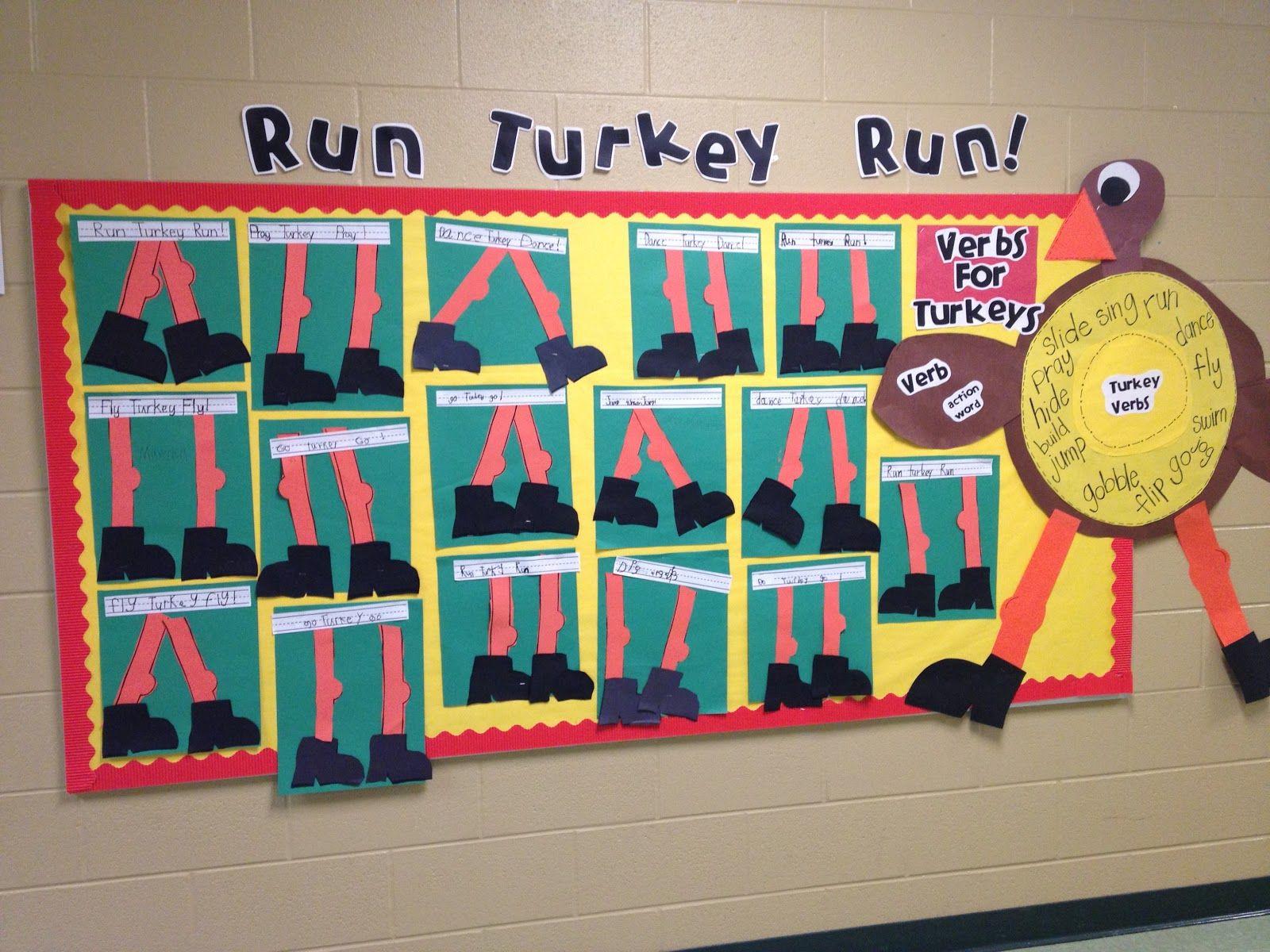 Turkey verbs activity to go with \