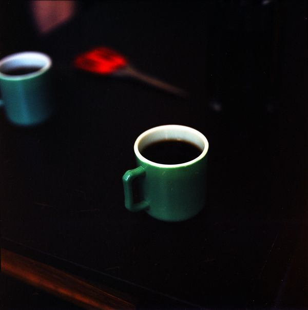Coffee in a green cup!!