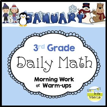 Daily MathHeres another month of Common Core Daily Math fun for your third graders. These pages spiral the CC standards and are packed full of math  word problems, graphs, addition, subtraction, multiplication, division, place value, number relationships, rounding, area, and more.****Also included this month  a freebie coloring page and word search featuring Belle the Penguin, just for fun!Use for morning work or warm-ups to your math block, or even for small group work -- you decide!Print…