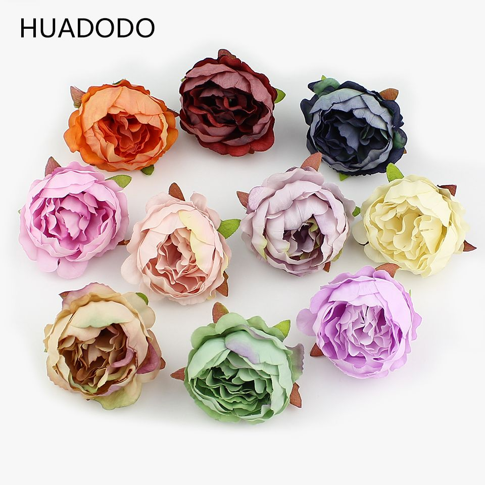 Huadodo 10 5 cheap artificial flowers buy quality artificial flowers for wedding directly from china flowers for suppliers huadodo 10 pieces peony flower head silk izmirmasajfo Choice Image