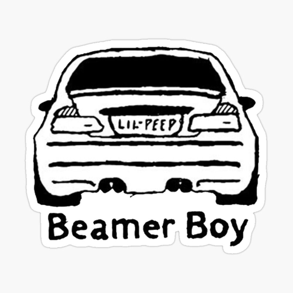Lil Peep And Lil Tracy Beamer Boy Car Design Sticker By Nmrkdesigns Lil Peep Lyrics Rap Album Covers Lil Peep Tattoos [ 1000 x 1000 Pixel ]
