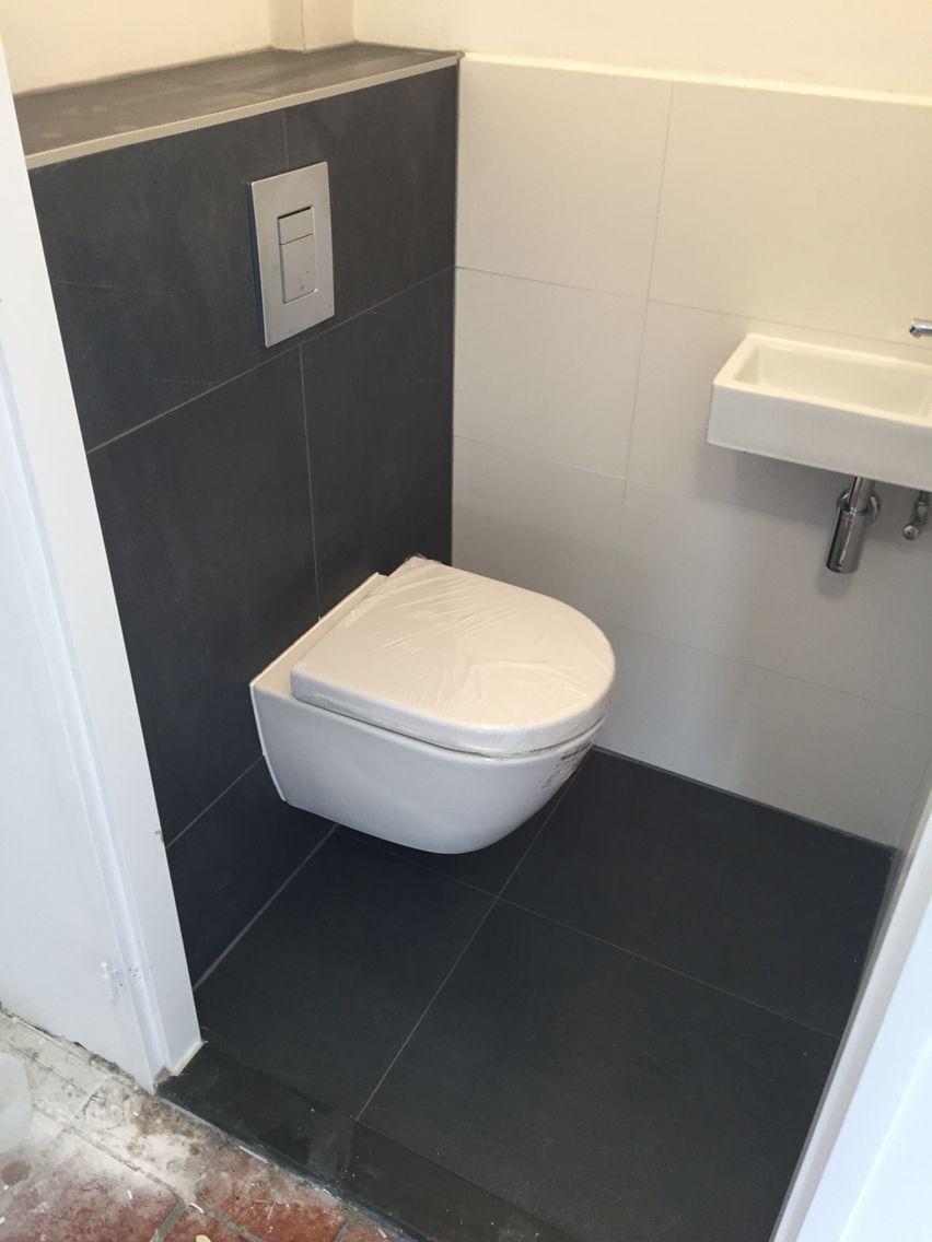Wandtegels 60x30 Vloertegels 60x60 Toiletruimte Toilet Ontwerp Toilet Verbouwing