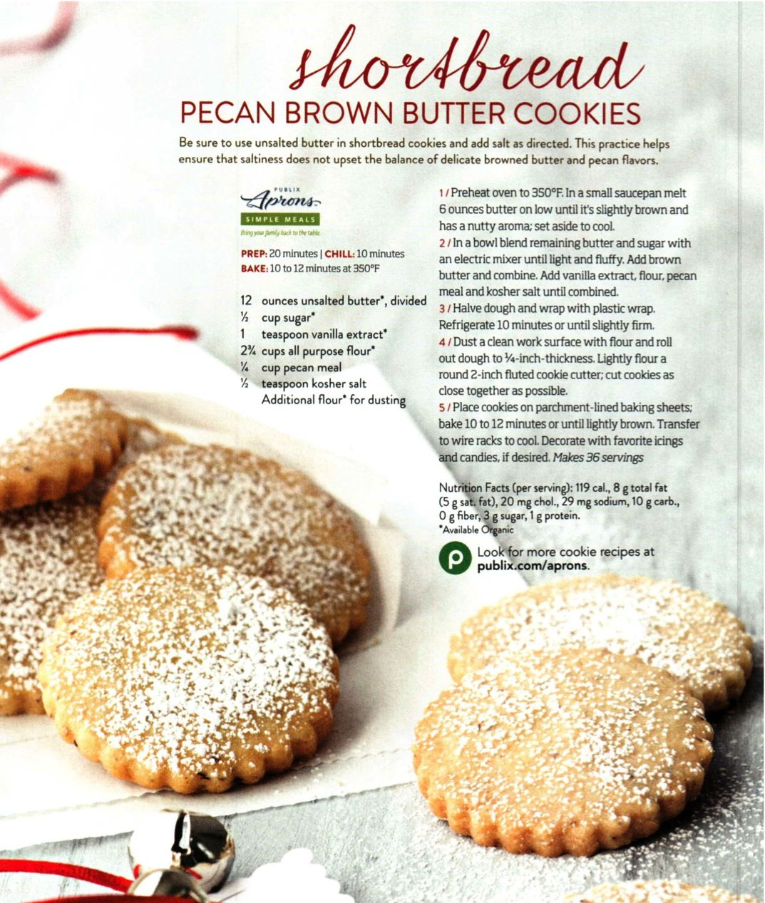 Shortbread Pecan Brown Butter Cookies