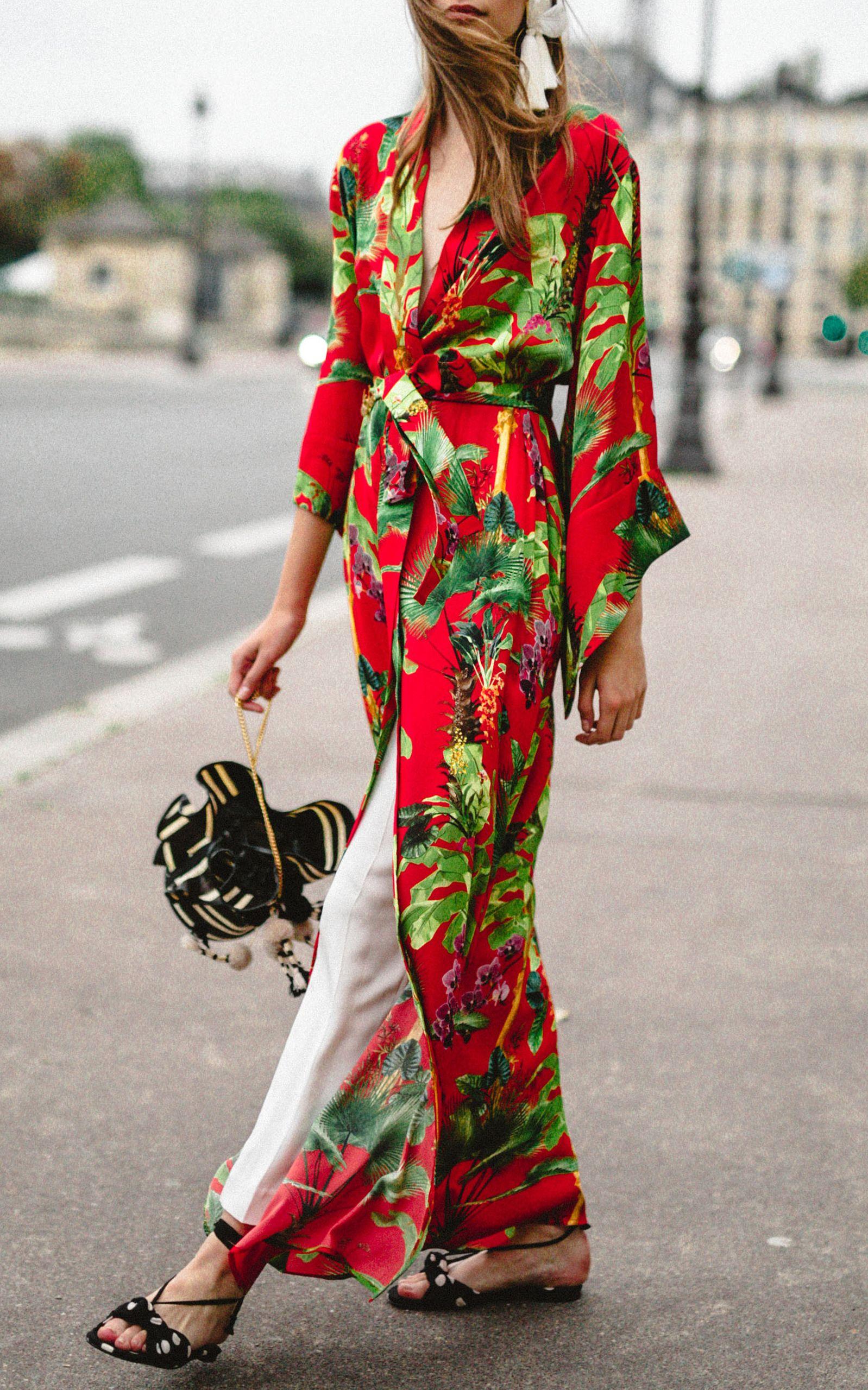 382039b41 Fire Maker Silk Georgette Kimono by JOHANNA ORTIZ for Preorder on Moda  Operandi