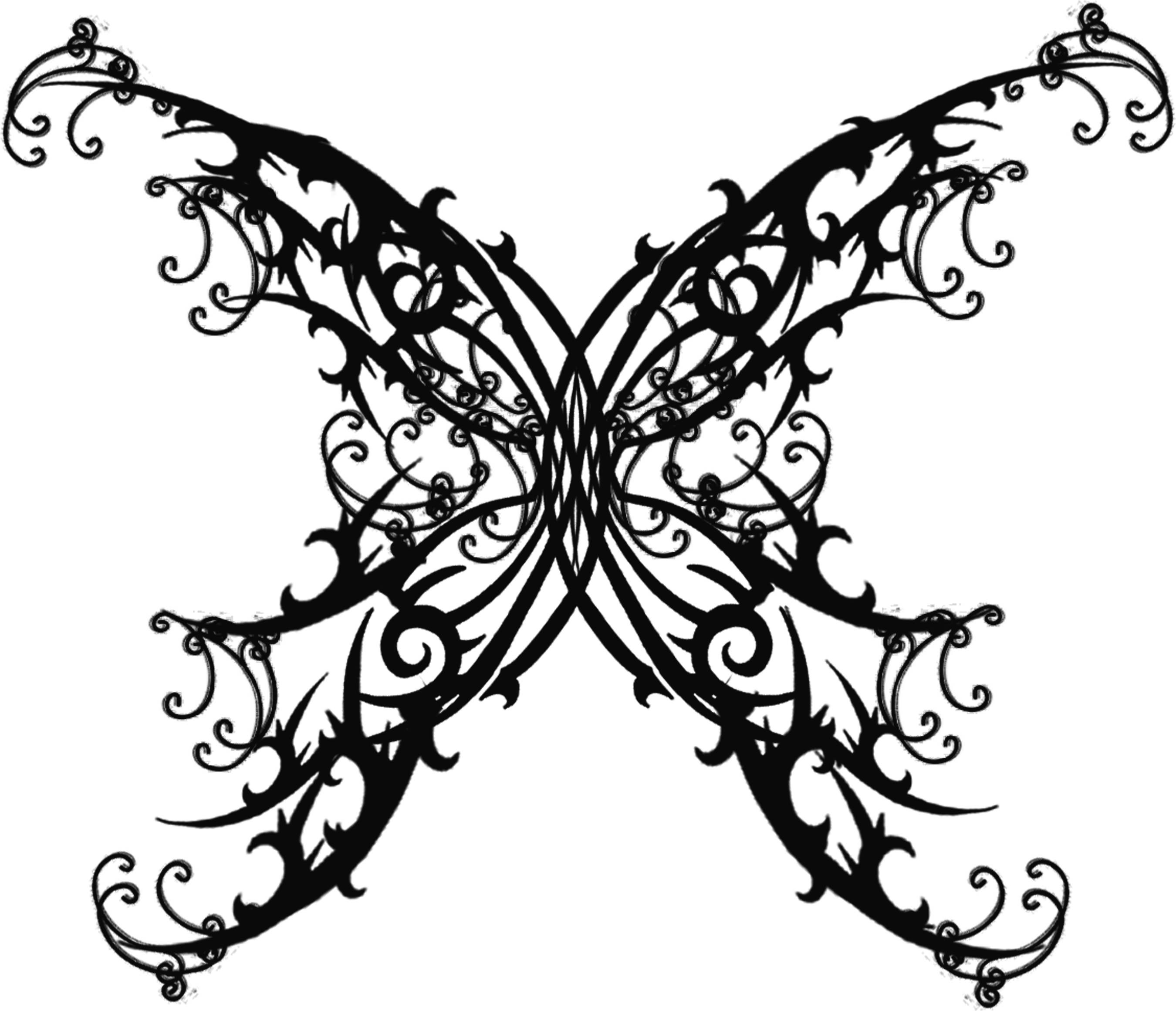 8f3a2082d Butterfly Pattern | Gothic Tattoos Pictures and Images : Page 6 ...
