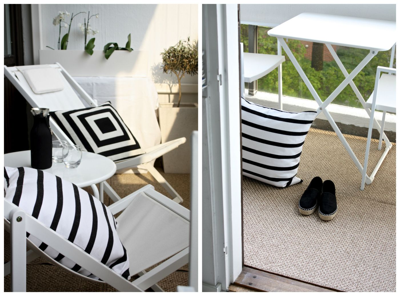 outdoor - terrace - black and white