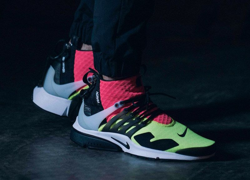 aa88a2bb8f7f Detailed Images Of The ACRONYM x Nike Air Presto Mid Neon. Find ...