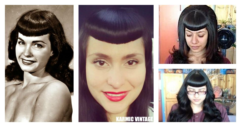 Awesome 1000 Images About Bettie Page Bangs On Pinterest Short Hairstyles Gunalazisus